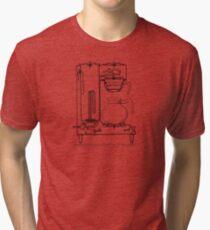 Half & half black Tri-blend T-Shirt