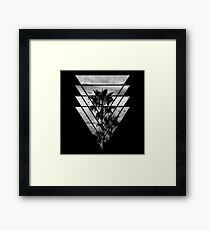 Geometric Triangles Sunset Beach Framed Print