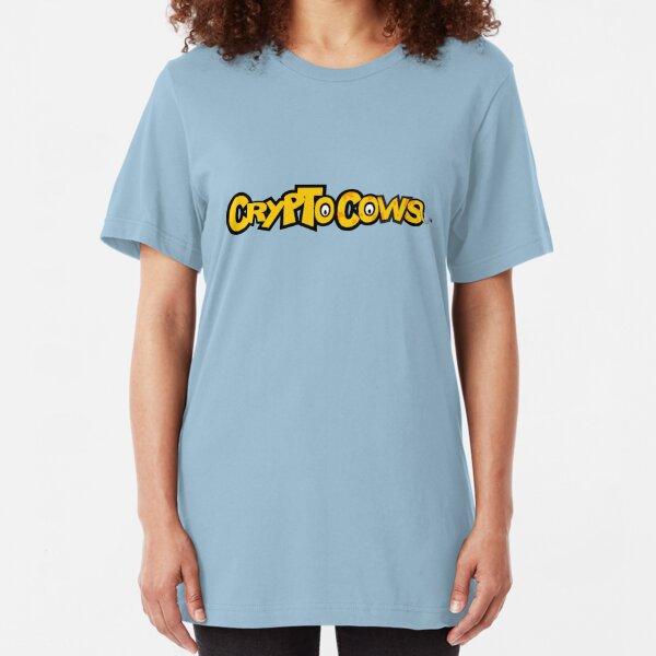 CryptoCows logo Slim Fit T-Shirt