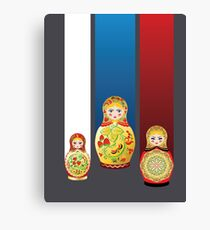 Colorful matryoshka dolls Canvas Print