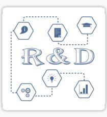 Research and development concept. Sticker