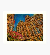 The Guild houses of the Grand'Place. Brussels. Belgium Art Print