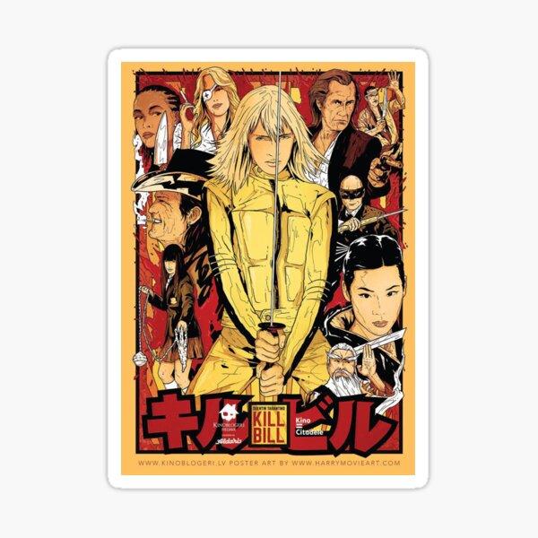 Kill Bill Chinese Poster Sticker