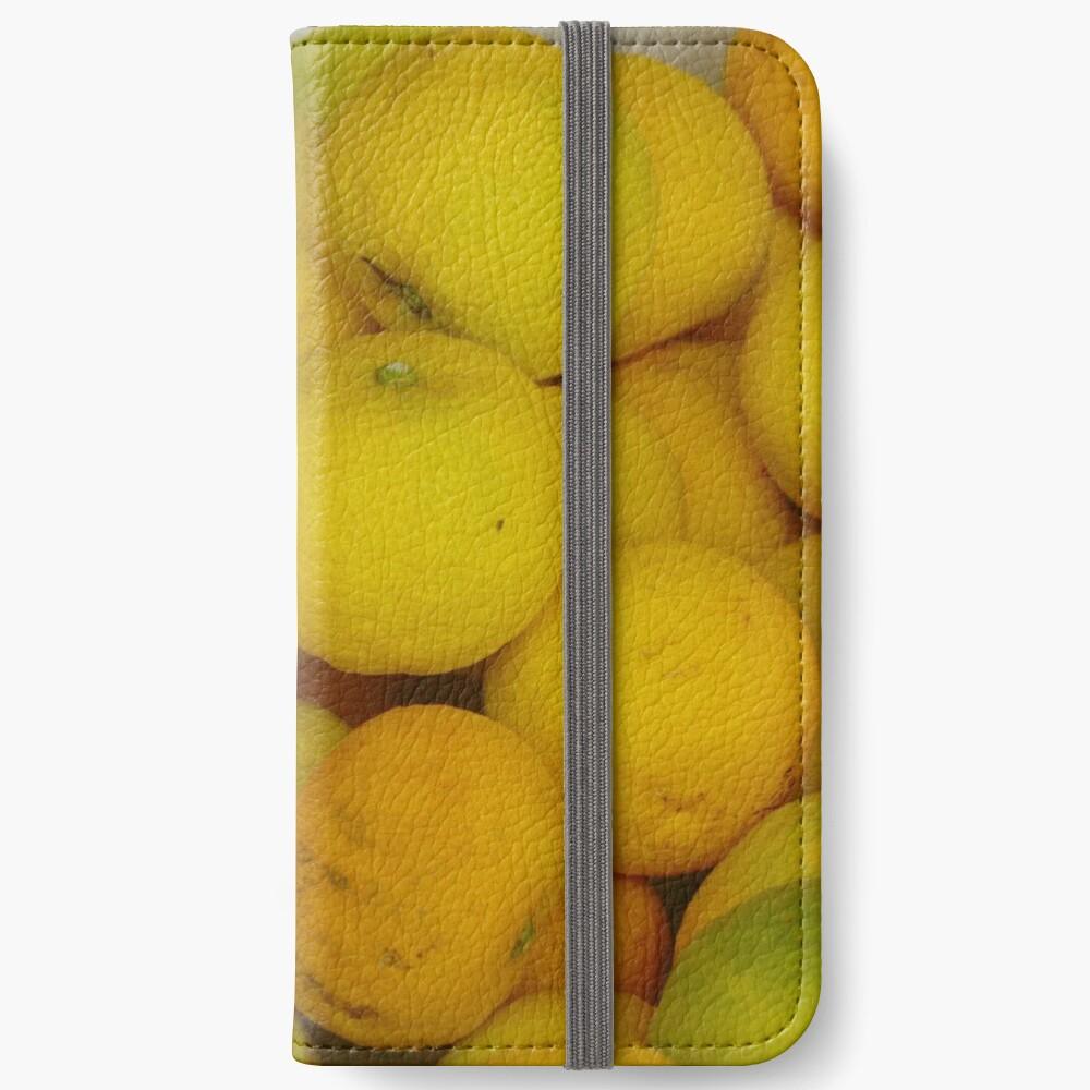 Zitronen iPhone Flip-Case
