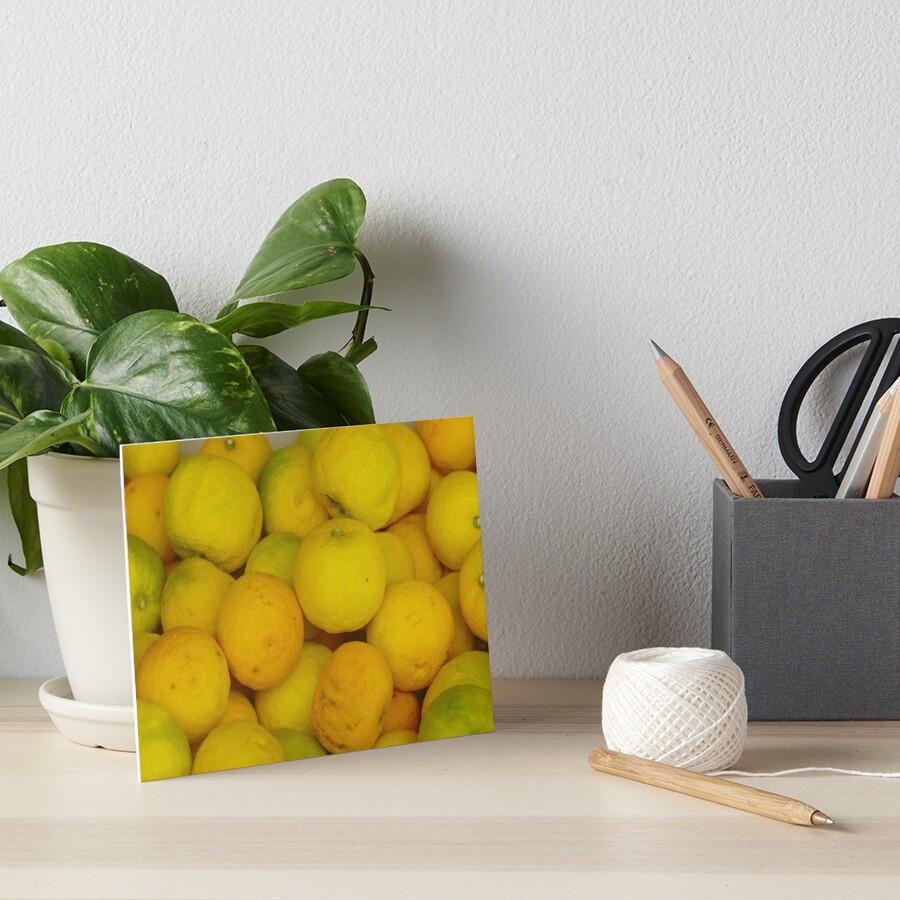 Zitronen Galeriedruck