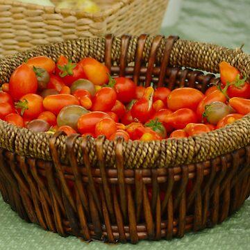 Basket of Tomatoes by ianturton