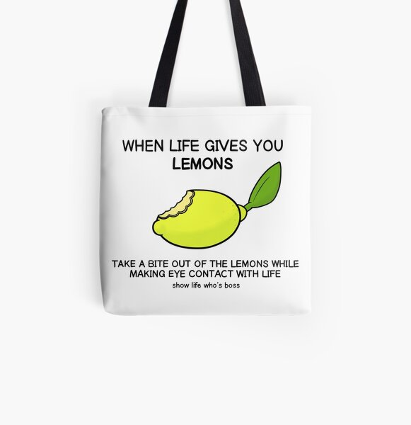 When Life Gives You Lemons All Over Print Tote Bag