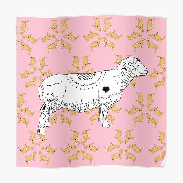 Kaleidoscope Sheep  Poster