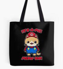 Cat Cute Funny Kawaii Mario Parody Tote Bag