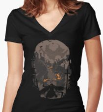 Blood Encounter Women's Fitted V-Neck T-Shirt