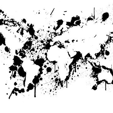 Map Of The World - Ink Splashes by valsymot