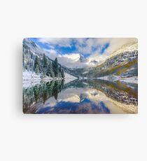 Maroon Bells Colorado Mountain Landscape Reflection Canvas Print