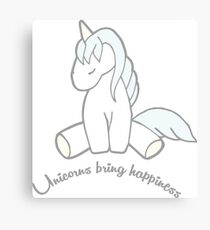 Unicorns Bring Happiness Canvas Print