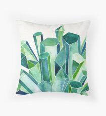 Emerald Watercolor Throw Pillow