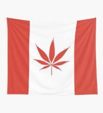 Drapeau Canada Cannabis Tenture murale