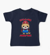 Cute Cat Funny Kawaii Mario Parody Baby Tee