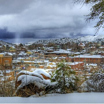 Snowy View In Prescott Arizona by DianaG