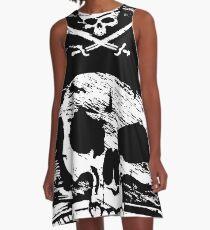Pirates Adventure Mallorca Merchandise Skull Black A-Line Dress