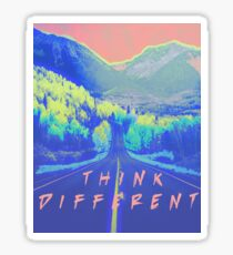 Think Different Neon Landscape Sticker