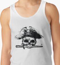Pirates Adventure Mallorca Merchandise Skull White Tank Top