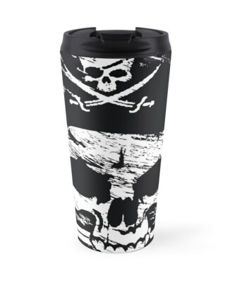 Pirates Adventure Mallorca Merchandise Skull White by PiratesMallorca