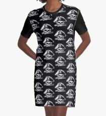 Pirates Adventure Mallorca Merchandise  Skull Black Pattern Graphic T-Shirt Dress