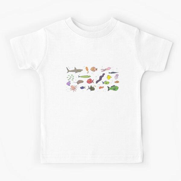 Cute under sea life cartoon Kids T-Shirt