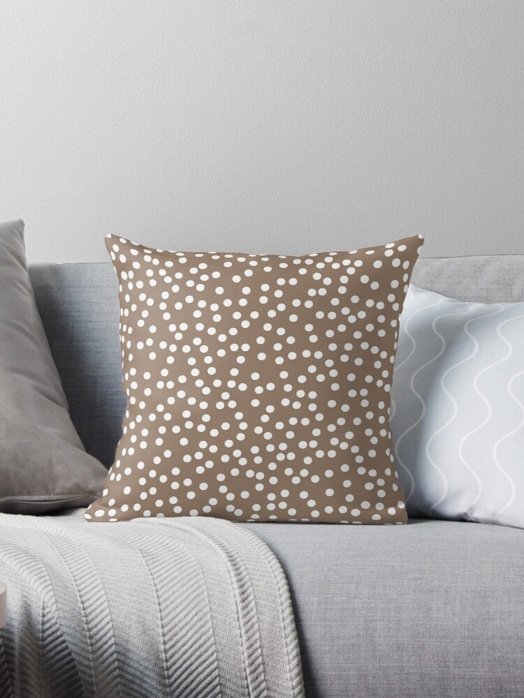 e82128374d3ff9 Malt Brown and White Polka Dot