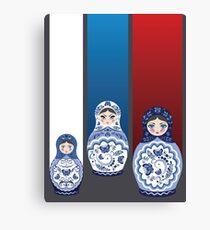 Blue matryoshka dolls  Canvas Print