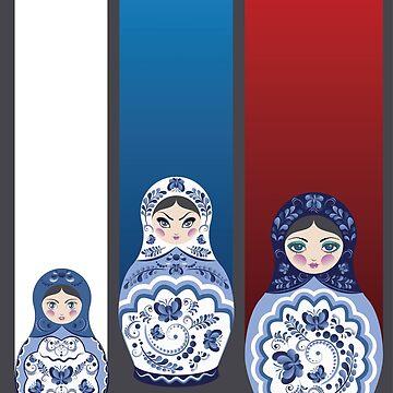 Blue matryoshka dolls  by AnnArtshock