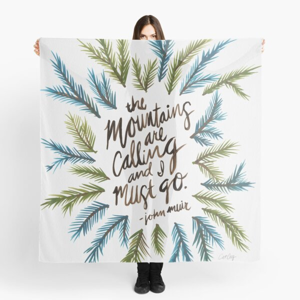 Mountains Calling Scarf
