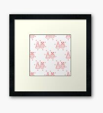 Seamless pattern with children's toys. Framed Print