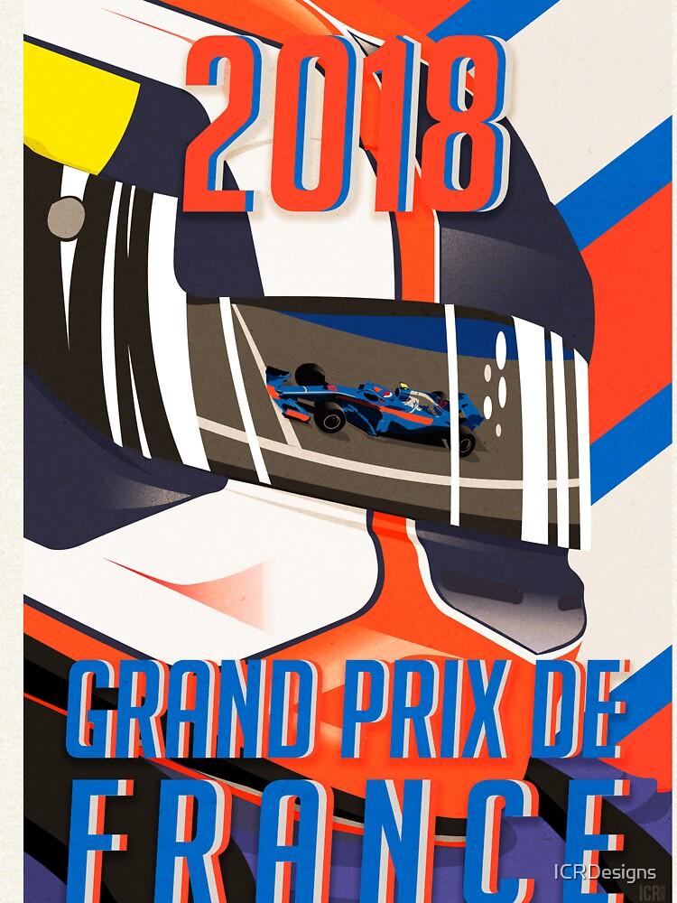 Französisches Plakat GP 2018 von ICRDesigns