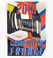 Französisches Plakat GP 2018 Poster
