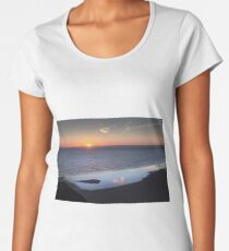 Rhossili Summer Solstice sunset 2018 Women's Premium T-Shirt