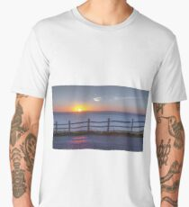 Summer Solstice sunset at Rhossili 2018 Men's Premium T-Shirt
