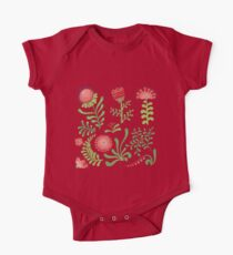 Set of symmetrical floral graphic design elements Kids Clothes