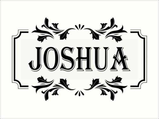 Frame Name Joshua\