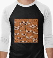 Dog Pattern Men's Baseball ¾ T-Shirt