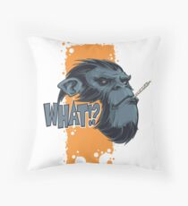 What!? Throw Pillow
