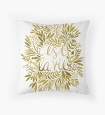 That's Life – Gold Throw Pillow
