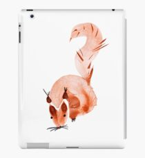 watercolor squirrel. Watercolor hand drawn brush iPad Case/Skin