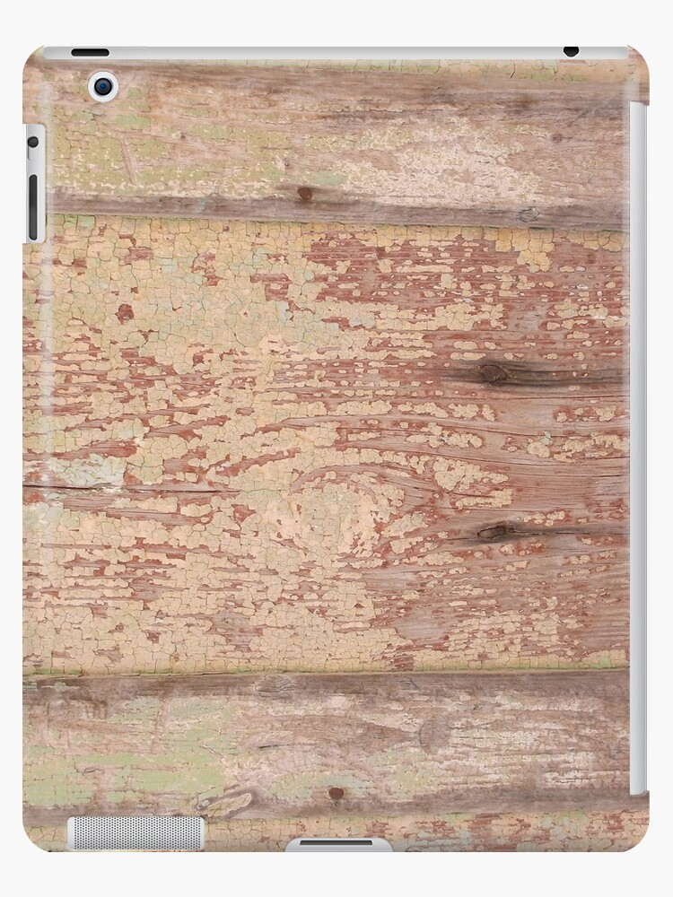 old flaky paint on wood panelling ipad cases skins by tom hill