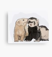 Ferret Kisses Canvas Print