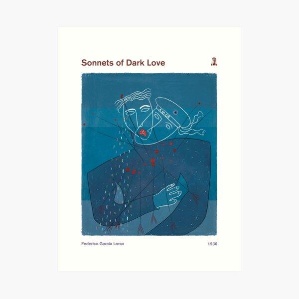 Sonetos de amor oscuro, Federico García Lorca - Arte de tapa del libro literario, Arte de la literatura, Obsequio de poesía, Decoración moderna para el hogar Lámina artística