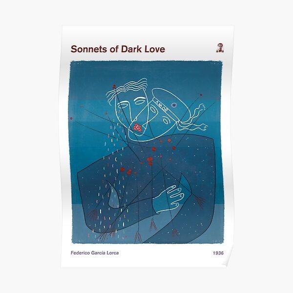 Sonnets of Dark Love, Federico García Lorca - Literary Book Cover Art, Literature Art, Poetry Bookish Gift, Modern Home Decor Poster