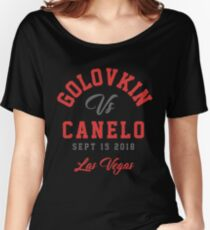 GGG vs Canelo Boxing T-shirt Women's Relaxed Fit T-Shirt