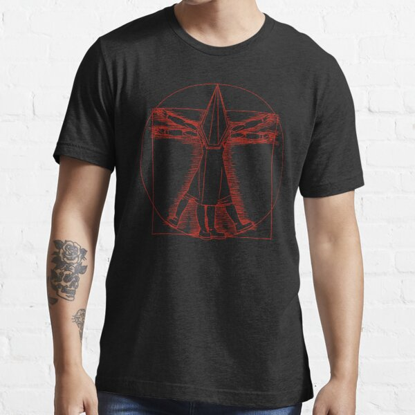 Vitruvian Pyramid Head (Red) Essential T-Shirt