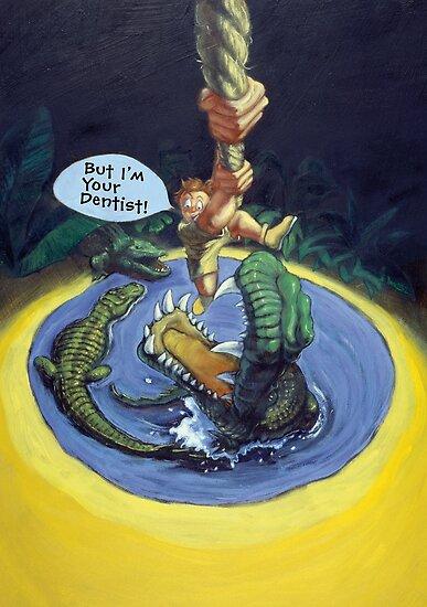 Crocodile dentist by Daniel Rodgers