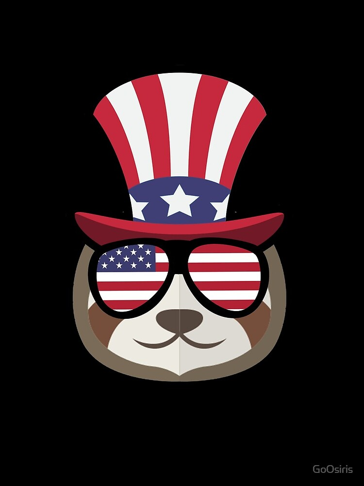 Sloth Happy 4th Of July de GoOsiris